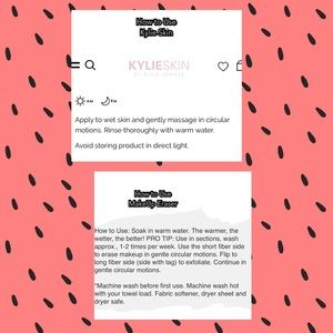Kylie Cosmetics Makeup - Kylie Skin Face Wash/ Original MakeUp Eraser
